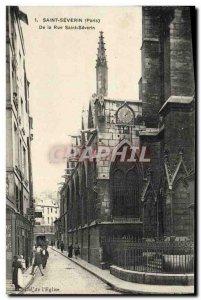 Old Postcard Paris Saint Severin
