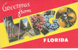 5-Views, Large Letters, Greetings from LARGO, Florida, 30-40s
