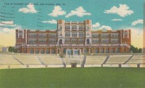 ERIE , Pennsylvania, 30-40s ; View of Academy High School & Stadium