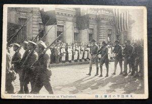 1919 USA Real Photo Postcard RPPC Landing Of American Troops Vladivostok USSR
