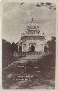 india, FIROZPUR FIROZEPORE, Saragarhi Memorial Gurudwara Sikh Temple 1920s RPPC