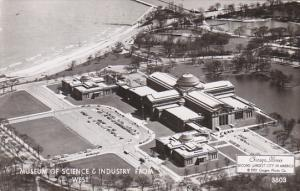 Museum Of Science and Industry From West Chicago Illinois Real Photo