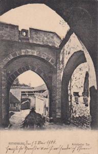 Switzerland Rothenburg ob der Tauber Kobolzeller Tor 1906