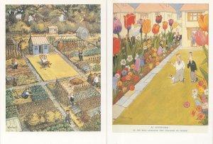 Punch Magazine Landscape Gardens 1932 1954 Postcard s