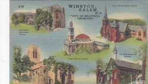 15410 NC Winston Salem  1940's  multi-view Five churches