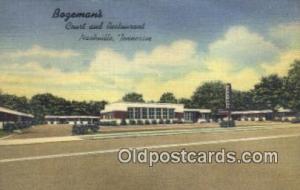 Bogemans, Nashville, Tennessee, TN USA Hotel Postcard Motel Post Card Old Vin...