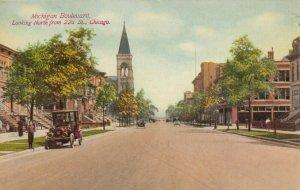 CHICAGO , Illinois, 1900-10s ; Michigan Boulevard
