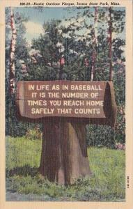 Rustic Outdoor Plaque On Tree Stump Itasca State Park Minnesota Curteich