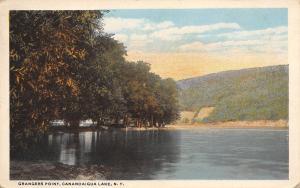 Canandaigua Lake New York~Grangers Point~Cabins Thru Trees~1916 Postcard