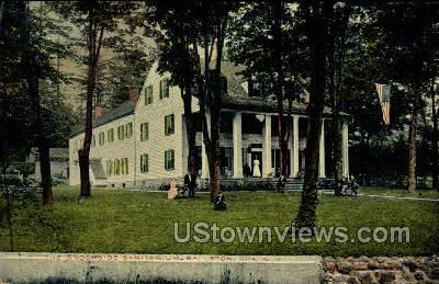 Brookside Sanitarium Ballston Spa NY Postal Used Unknown
