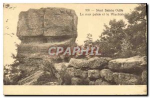 Old Postcard Mont Sainte Odile Wall palen and Wachstein