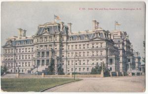 State, War and Navy Departments, Washington D.C. unused Postcard