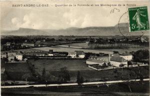 CPA St-ANDRÉ-le-GAZ - Quartier de la Rotonde et les Montagnes de la (391904)