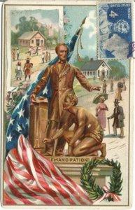 Lincoln's Birthday Ralphael Tuck & Sons Post Card Vintage Postcard