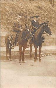 G77/ Hot Springs Arkansas RPPC Postcard c1910 People on Horses
