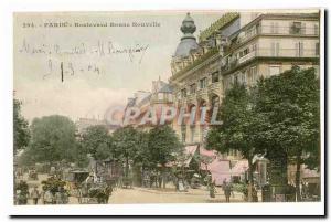Paris (2nd) Old Postcard Boulevard Bonne Nouvelle