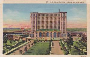 Michigan Detroit Michigan Central Station Curteich