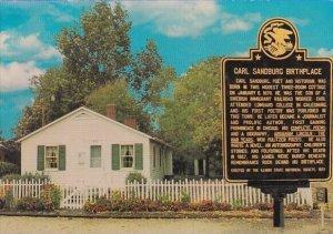 Birthplace OF Carl Sandburg Poet And Lincoln Biographer Galesburg Illinois