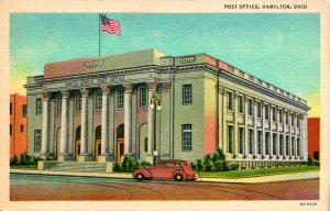 Hamilton OH Post Office Postcard unused (23912)