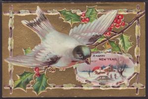 A Happy New Year,Bird,Holly,Scene