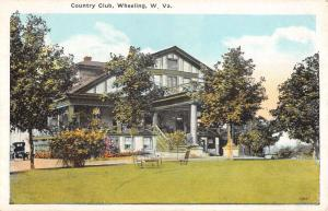 Wheeling West Virginia Country Club Street View Antique Postcard K32003