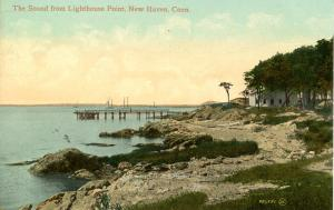 CT - New Haven - Morris Cove, The Sound from Lighthouse Point