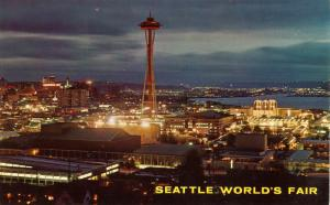 WA - Seattle, 1962. Seattle World's Fair (Century 21 Exposition). View from Q...