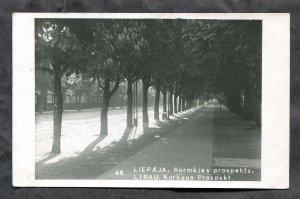 dc82 - LATVIA Liepaja 1934. Libau Kurhaus Prospekt Real Photo Postcard