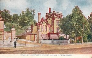 Hot Springs AR~Widnow's Walk~Pin-Striped Awnings~Palace Bath House~1912 Manier