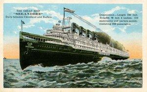 Cleveland & Buffalo Line (C&B) - Steamer Seaandbee