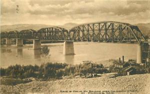 Arizona California Bridge Colorado River Parker C-1910 Postcard 1347