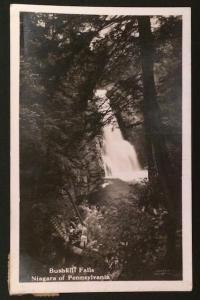 Bushkill Falls Niagara of Pennsylvania 1928 Real Photo Post Card
