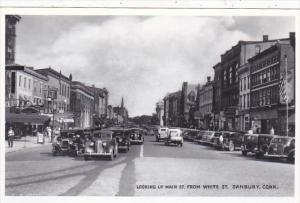 Connecticut Danbury Looking Up Main Street From White Street Real Photo
