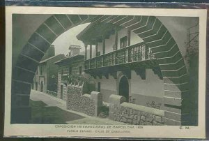 pc3230 postcard Barcelona 1929 EXPO MOBSC