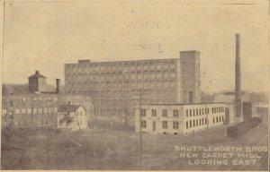 AMSTERDAM , New York , 1911 ; Shuttleworth Bros. New Carpet Mill