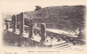 Tunisia Ruines Romaines de Timgad Theatre la Cavea et la Scene