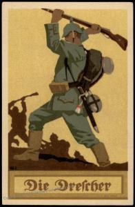 Germany WWI Patriotic Artist Card The Thresher Munich Bavaria 74381