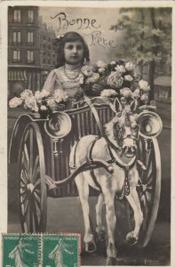RP: Girl in a pony chariot , Bonne Fete, 00-10s