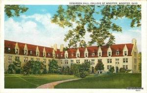Wooster College Ohio~Kenarden Lodge Residence Hall Pointy Dorners 1922 Postcard