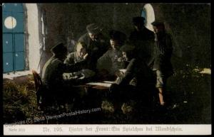 Germany Austria WWI Army Playing games by Moonlight Patriotic Gloria Vikto 66384