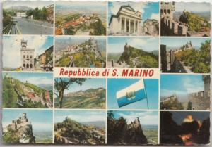 Repubblica di S. Marino, multi view, 1978 used Postcard