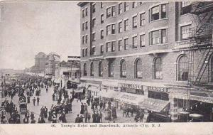 New Jersey Atlantic City Youngs Hotel And Boardwalk 1907