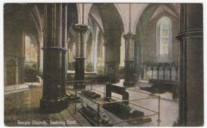 London; Temple Church Interior Looking East PPC By Shurey's, Unposted, c 1910