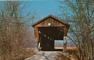 McMillan Covered Bridge on Bean Blossom Creek - Bloomington IN, Indiana
