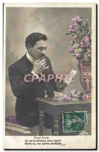 Old Postcard Postcards Man