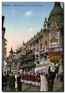 Old Postcard Leipzig Messreklamezug In Der Reichsstrasse Folklore