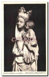 Old Postcard Saint Benoit sur Loire Our Lady of Fleury