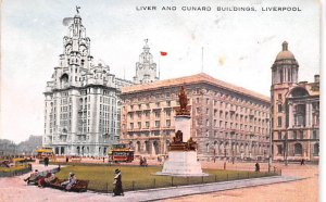 Liver and Cunard Buildings Liverpool Scotland, UK 1933 Missing Stamp