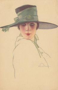 A. TERZI ; Art Deco Female Head Portrait , 1910s ; #4