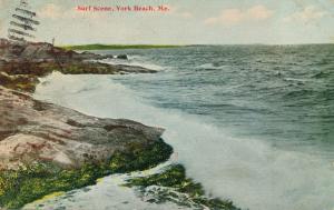 Surf Scene at York Beach, Maine - pm 1911 - DB